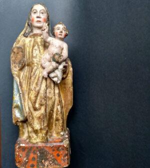 Virgen con el Niño, Nueva España ( México ) , s. XVI pp. XVII
