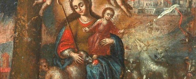 Divina pastora Virreinato del Perú (Cuzqueña) s.XVIII