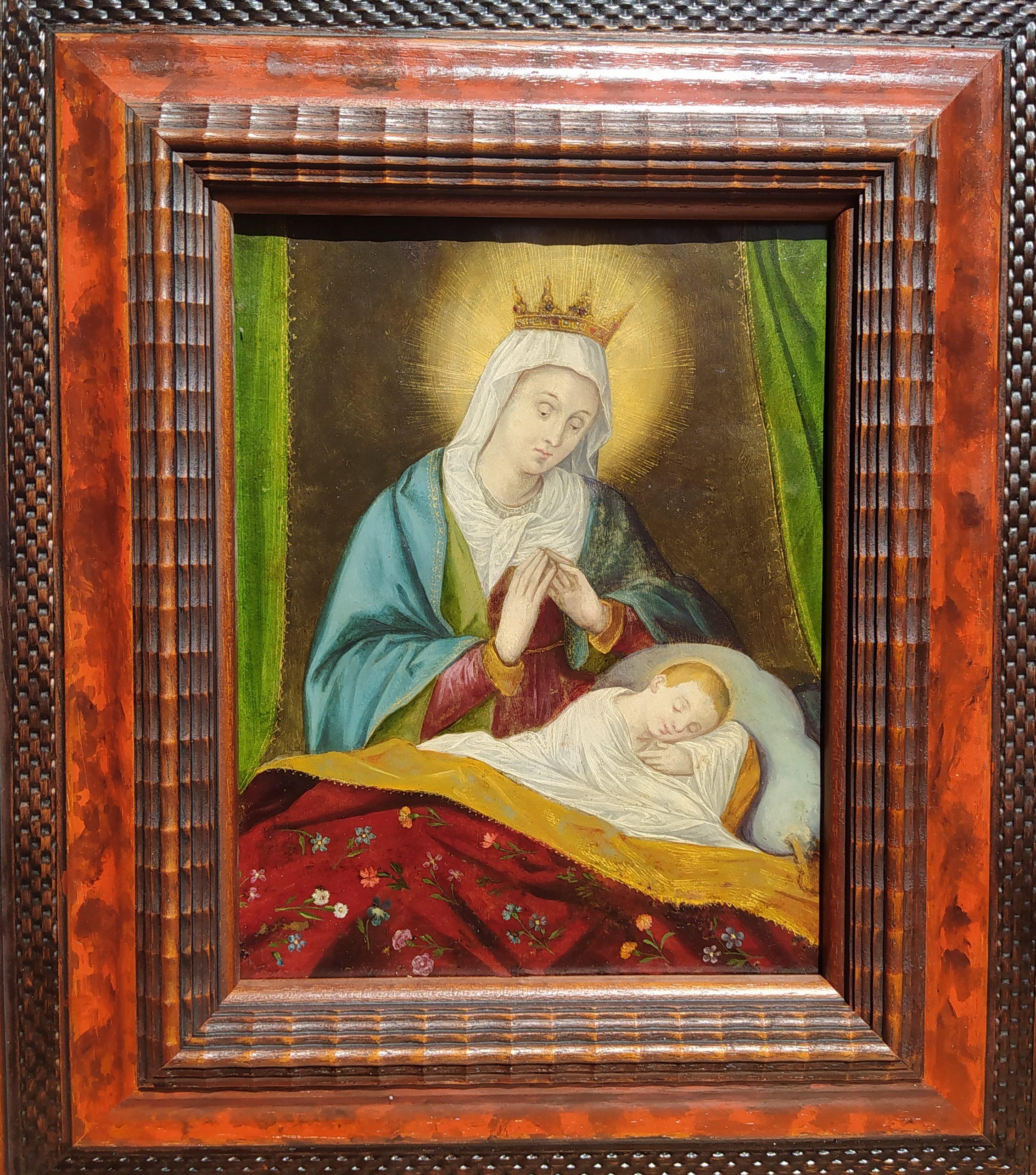Virgen h.1600 inspirado en el grabado de  Wierix
