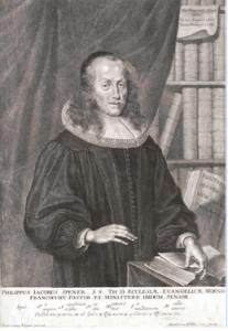 Spener, retratado por Bartholomäus Kilian en 1683.