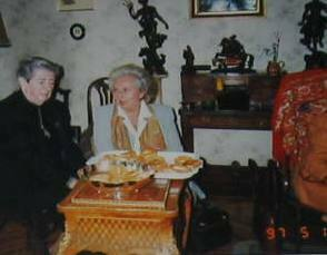 Mª Teresa Pérez Balsera y la Infanta Pilar de Borbón